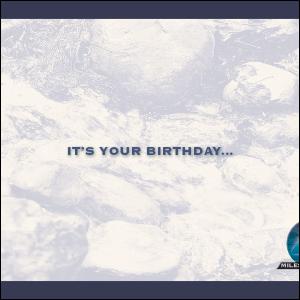 Milestones Spa Birthday Postcard